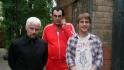 Михаил Евланов с коллегами по цеху на съемках фильма «Крылья»
