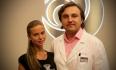 Доктор Грудько и счастливая обладательница нового носа