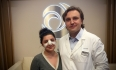 Доктор Грудько и его пациентка после ринопластики